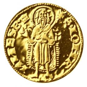 Zlatá replika florénu Karola I. Róberta z Anjou
