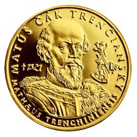 Zlatá medaila Matúš Čák Trenčiansky (1-dukát)