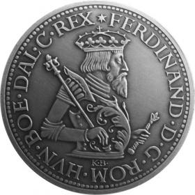 Strieborná miniatúra toliaru - Ferdinand I.
