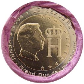 2 Euro Luxembursko 2004 - Monogram veľkovojvodu Henriho