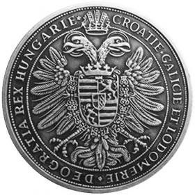 Strieborná miniatúra toliaru - Maximilián II.