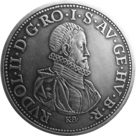Strieborná miniatúra toliaru - Rudolf II.