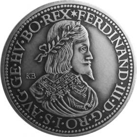 Strieborná miniatúra toliaru - Ferdinand III.