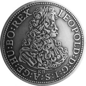Silver miniature tolar - Leopold I.