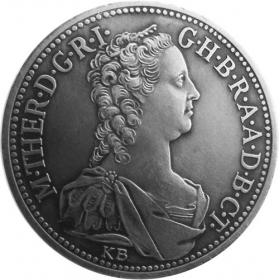 Strieborná miniatúra toliaru - Mária Terézia