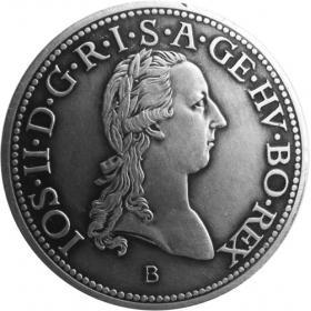 Silver miniature tolar - Jozef II.