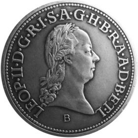 Silver miniature tolar - Leopold II.