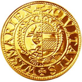 Zlatá replika mince Mesto Wiesmar (1-dukát) - Košický zlatý poklad