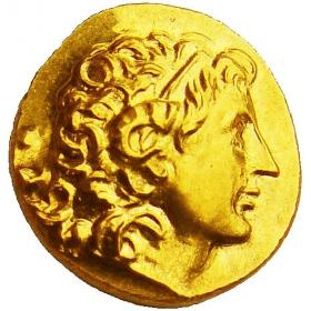 Zlatá replika mince Lysimachos (323-281 p.n.l.) - Košický zlatý poklad
