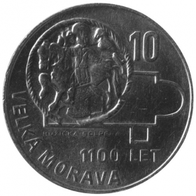 10 Kčs / 1966 - Great Moravia