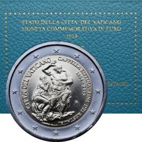 2 Euro Vatikán 2019 - Sixtínska kaplnka