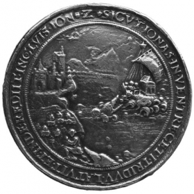 Christopher Fussl - silver medal from the 16th century - replica