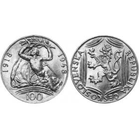 100 Kcs / 1948 - 30th anniversary of Czechoslovakia