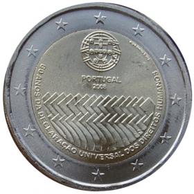 2 Euro / 2008 - Portugalsko - Všeobecná deklarácia ľudských práv