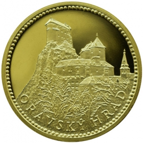 Mosadzná medaila Oravský hrad - Lesk