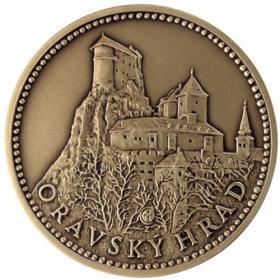 Mosadzná medaila Oravský hrad - Patina