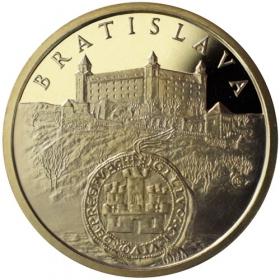 Mosadzná medaila Bratislava - lesk