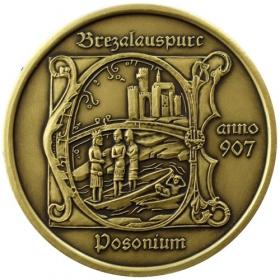Mosadzná medaila Bratislava - patina