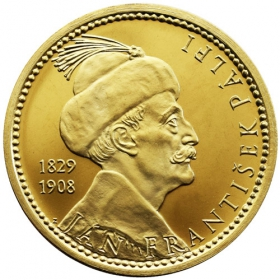 Mosadzná medaila Bojnice - lesk