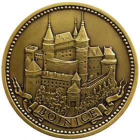Mosadzná medaila Bojnice - patina