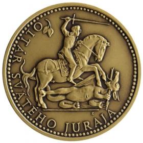 Mosadzná medaila Spišská Sobota - patina