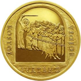 Mosadzná medaila Poprad - lesk