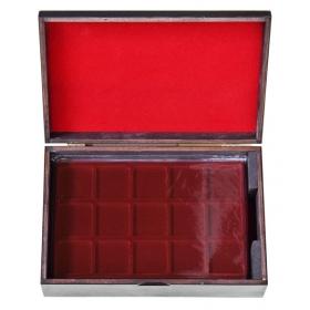 Drevený kufrík na uloženie plát na zberateľské mince - Eben
