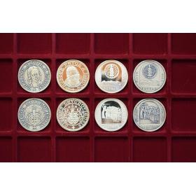 Plató na mince 35 okienkové, výrez štvorec