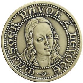 Mosadzná medaila Madona z Levoče - patina