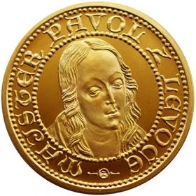 Mosadzná medaila Madona z Levoče - lesk