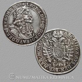 Strieborná replika kremnickej razby toliaru Leopolda I. - r. 1681