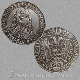 Strieborná replika kremnickej razby toliaru Ferdinanda II. - r. 1622