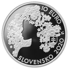 Pamätný list Andrej Sládkovič + 10 Eur 2020 Andrej Sládkovič Proof