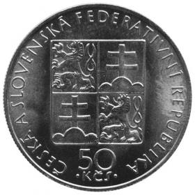 "50 Kčs 1990 - Anežka Česká , ""varianta bez LK"", bežná kvalita"