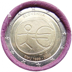 2 Euro Slovinsko 2009 - Hospodárska a menová únia