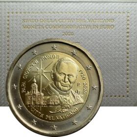 2 Euro Vatikán 2020 - Ján Pavol II.
