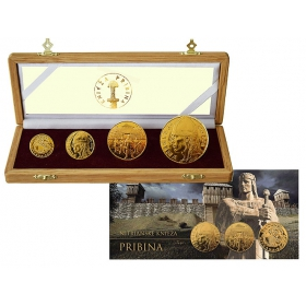 Set of gold medals Pribina, Prince of Nitra