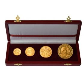 Sada zlatých medailí Sv. Alžbeta patrónka mesta Košice