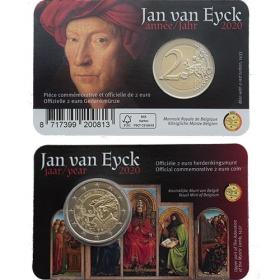 "2 Euro Belgicko ""FR/D"" 2020 - Jan Van Eyck"