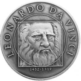 Medal Leonardo da Vinci - Patinated