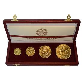 Československé dukáty z roku 1923 medailéra Antonína Máru, súťažný návrh