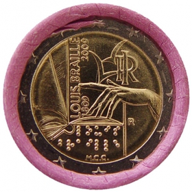 2 Euro / 2009 - Italy - Louis Braille