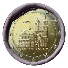 """2 Euro Germany """"A"""" 2021 - Magdeburg Cathedral"""