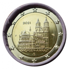"""2 Euro Germany """"F"""" 2021 - Magdeburg Cathedral"""