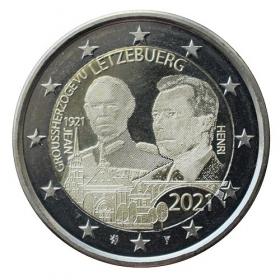 2 Euro Luxembursko 2021 - Veľkovojvoda Jean (fotografia)