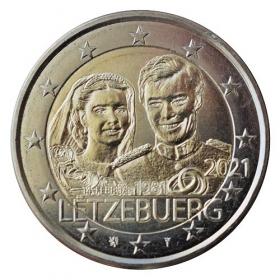 2 Euro Luxembourg 2021 - Marriage of Grand Duke Henri