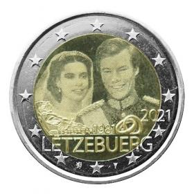 2 Euro Luxembursko 2021 - Svadba Veľkovojvodu Henriho (fotografia)