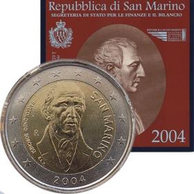 2 Euro San Maríno 2004 - Bartolomeo Borghesi
