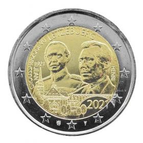 2 Euro Luxembursko 2021 - Veľkovojvoda Jean