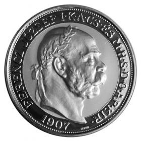 Silver replica 100 Crown Coronation of Francis Joseph I.